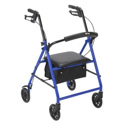 Drive Medical Rollator with 6 inches Wheels, Blue - 1 ea