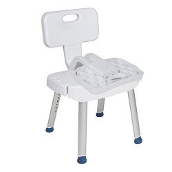 Drive Medical Bathroom Safety Shower Chair with Folding Back - 1 ea