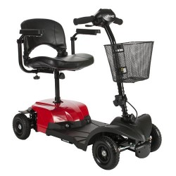 Drive Medical Bobcat X4 Compact Transportable Power Mobility Scooter, 4 Wheel, Red - 1 ea