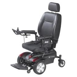"Drive TITAN20P22 Titan Front Wheel Power Wheelchair Pan Seat 20"" x 18"" - 1 ea"