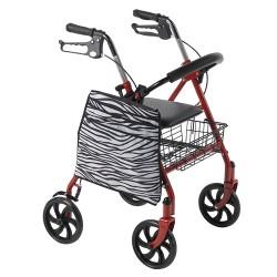 Drive Medical AgeWise Walker Rollator Side Caddy, Zebra - 1 ea