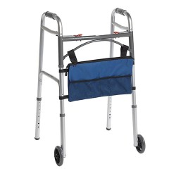 Drive Medical AgeWise Walker Rollator Front Organizer with Mesh, Blue - 1 ea