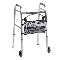 Drive Medical AgeWise Walker Rollator Front Organizer with Mesh, Zebra - 1 ea