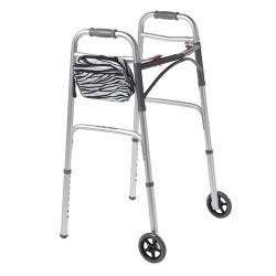 Drive Medical AgeWise Walker Rollator Caddy, Zebra - 1 ea