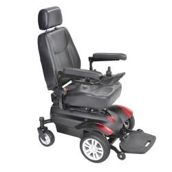"Drive Medical Titan X16 Front Wheel Power Wheelchair, Full Back Captain's Seat, 20"" X 20"" - 1 ea"