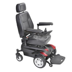 "Drive Medical Titan X23 Front Wheel Power Wheelchair, Full Back Captain's Seat, 18"" X 16""- 1 ea"