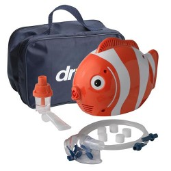 Drive Medical Pediatric Fish Compressor Nebulizer with Reusable and Disposable Neb Kit - 1 ea