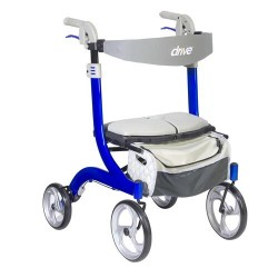 Drive Medical Nitro DLX Euro Style Walker Rollator, Sleek Blue - 1 ea
