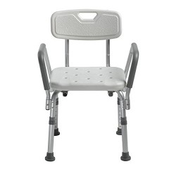 Drive Medical Knock Down Bath Bench with Back and Padded Arms - 1 ea