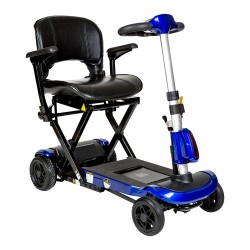 Drive medical zoome auto - flex folding travel scooter, blue - 1 ea