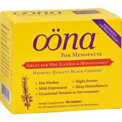Oona menopause herbal supplement tablets - 96 ea