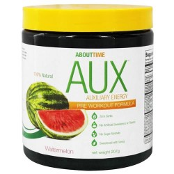 About time aux auxiliary energy pre workout formula watermelon - 207 grams