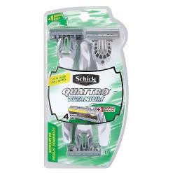 Schick quattro razor titanium for men sensitive skin disposables razors - 3 ea