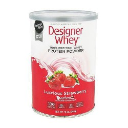 Designer Whey 100% natural protein, strawberry - 12 oz