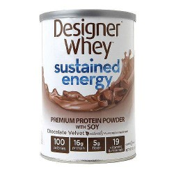 Designer Whey Sustained Energy Powder, Chocolate Velvet - 12 oz
