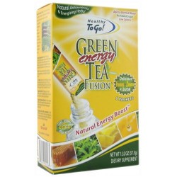 To go brands healthy to go green tea energy fusion, honey lemon - 6 packets