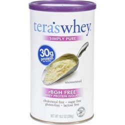 Teras whey protein isolate whey simply pure unsweetened - 10.2 oz