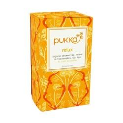 Pukka herbal tea organic relax tea bags - 20 ea