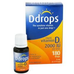 Ddrops liquid vitamin d3 2000 iu drops - 0.17 oz, 180 drops