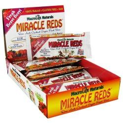 Macrolife naturals miracle reds super food bar, Fresh berri berri - 1.5 oz