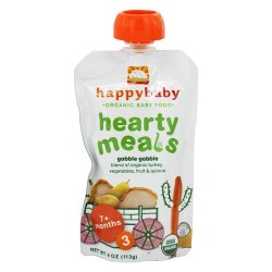 Happy baby organic baby food gobble gobble stage 3 balanced meals 7+ months - 4 oz.