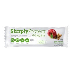 Simply protein whey bar, apple cinnamon - 40 grm, 12 pack