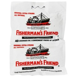 Fisherman's friend original extra strong menthol cough suppressant lozenges - 2 x 20 lozenges