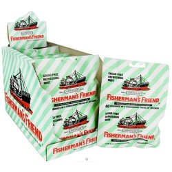 Fisherman's friend sugar free refreshing mint menthol cough suppressant lozenges 2 x 20 lozenges