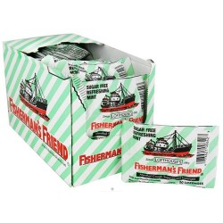 Fisherman's friend sugar free refreshing mint menthol cough suppressant - 20 lozenges