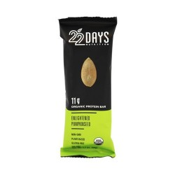 22 Days Nutrition organic protein bar, Enlightened pumpkin seed - 1.7 oz, 12 ea