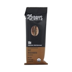 22 Days Nutrition organic protein bar, Daily mocha mantra - 1.7 oz, 12 ea
