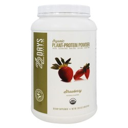 22 Days nutrition - organic plant-protein powder strawberry - 28.6 oz
