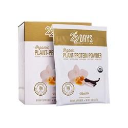 22 Days Nutrition Plant Protein Powder, Vanilla - 0.95 oz, 12 ea