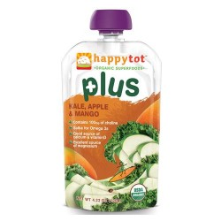 Happybaby happy tot plus organic super foods kale, apple and mango - 4.22 oz, 16 Pack