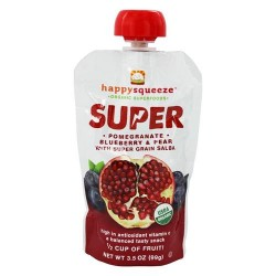 Happy family - happysqueeze organic superfoods pomegranate blueberry & pear - 3.5 oz