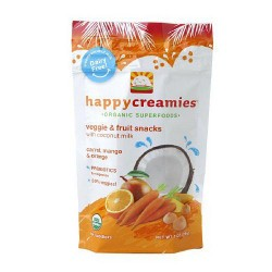 Happy creamies organic superfoods carrot mango and orange- 1 oz