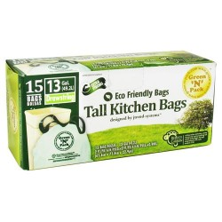 Green n pack eco friendly bags tall kitchen bags - 40 bags