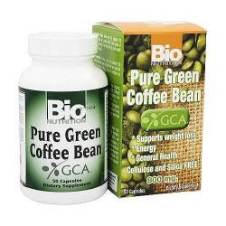 Bio Nutrition Pure Green Coffee Bean 800 mg Capsules - 50 ea