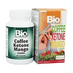 Bio Nutrition Coffee Ketone Mango Weight Loss Combo Capsules - 60 ea