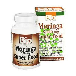 Bio Nutrition Moringa Super Food 5000 mg Vegetarian Capsules - 90 ea