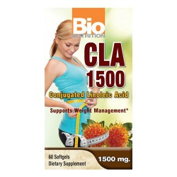 Bio nutrition cla 1500 conjugated linoleic acid 1500 mg softgels  -  60 ea