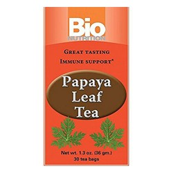 Bio nutrition papaya leaf tea, immune support  -  30 Bags