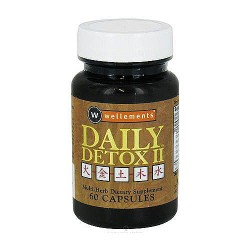 Daily detox II multi herb dietary supplement capsules - 60 ea