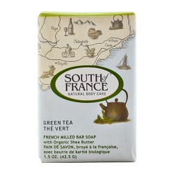 South of france bar soap green tea travel - 1.5 oz, 12 pack