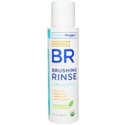 Essential oxygen organic brushing rinse peppermint - 3 ea