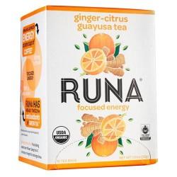 Runa amazonian guayusa tea, ginger citrus - 16 tea bags, 6 pack