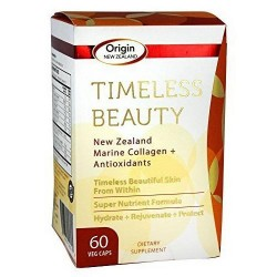 Origin New Zealand Timeless Beauty Marine Collagen + Antioxidants Capsules, 60 ea