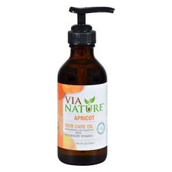 Via nature carrier skin care oil apricot moisturizing - 4 fl oz