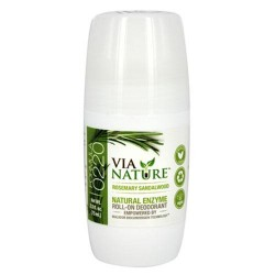 Via Nature Rosemary Sandalwood Roll-On Deodorant - 2.5 oz