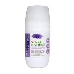 Via nature natural enzyme roll on deodorant lavender eucalyptus - 2.5 oz